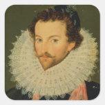 Sir Walter Raleigh 2 Square Sticker