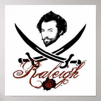 Sir Walter Raleigh Pirate Insignia Print