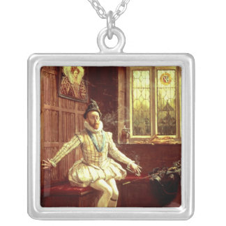 Sir Walter Raleigh's  First Smoke Silver Plated Necklace