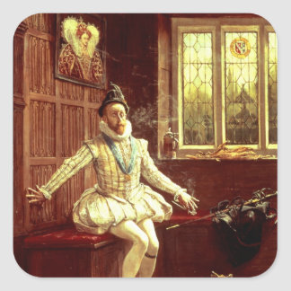 Sir Walter Raleigh's  First Smoke Square Sticker