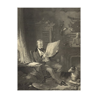 Sir Walter Scott 1846 Gallery Wrapped Canvas