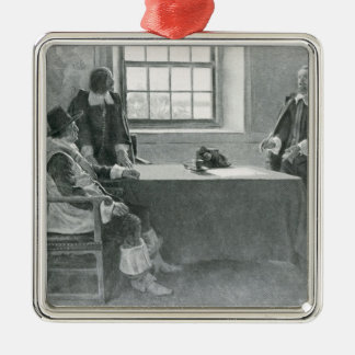Sir William Berkeley Surrendering Christmas Ornament