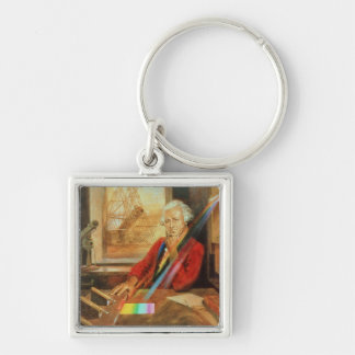 Sir William Herschel Silver-Colored Square Key Ring