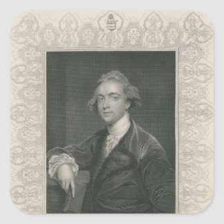 Sir William Jones from 'Gallery of Portraits' Square Sticker