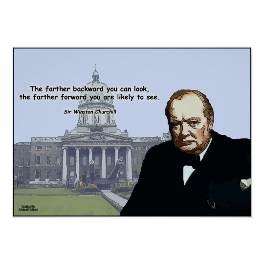 Sir Winston Churchill - Inspirational Posers Poster
