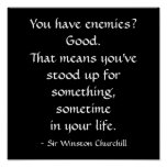 Sir Winston Churchill Quote Poster