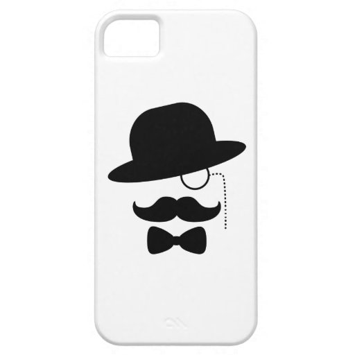 Sir with Moustache iPhone 5 Cover