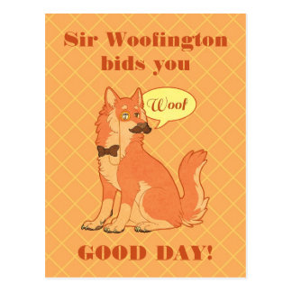 Sir Woofington Post Card