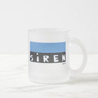 Siren Frosted Glass Coffee Mug