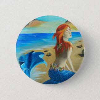 Siren - mermaid 6 cm round badge