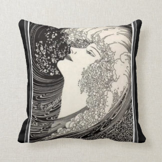 Siren Voice Art Deco Pillow