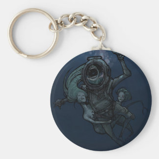 Sirens Basic Round Button Key Ring