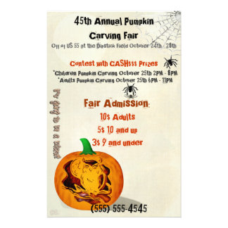 Sirens Haunted Halloween Pumpkin Carving EVENT Flyer