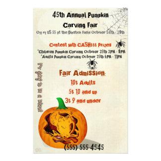 Sirens Haunted Halloween Pumpkin Carving EVENT 14 Cm X 21.5 Cm Flyer
