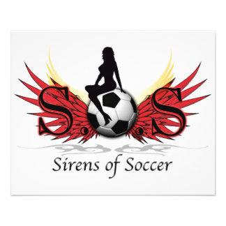 Sirens of Soccer 11.5 Cm X 14 Cm Flyer