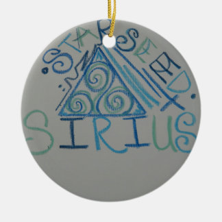 Sirian Starseed Light Language Symbol Double-Sided Ceramic Round Christmas Ornament