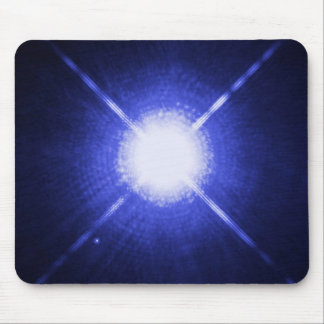 Sirius A and B - brightest glowing star Mousepad