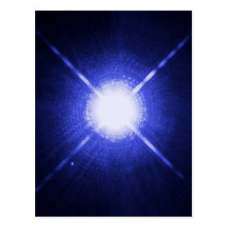 Sirius A and B - brightest glowing star Postcard