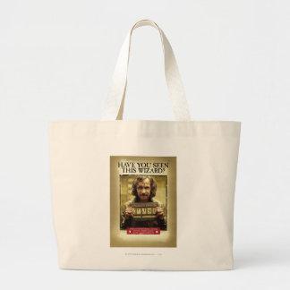 Sirius Black Wanted Poster Jumbo Tote Bag