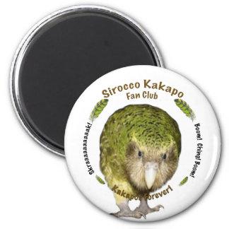 Sirocco Kakapo Fan Club 6 Cm Round Magnet