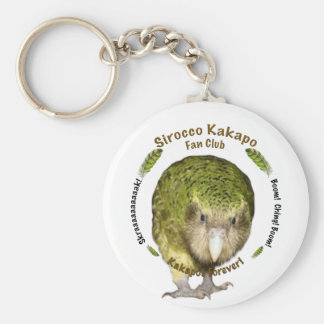 Sirocco Kakapo Fan Club Basic Round Button Key Ring