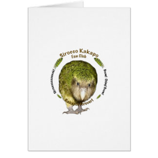 Sirocco Kakapo Fan Club Greeting Card