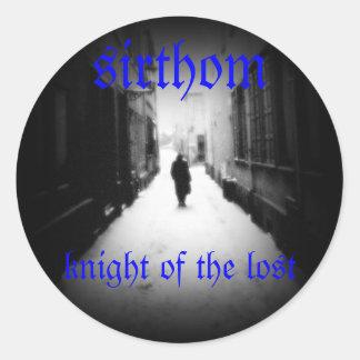 sirthom - knight of the lost round sticker