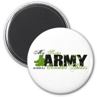 Sis Combat Boots - ARMY Fridge Magnet