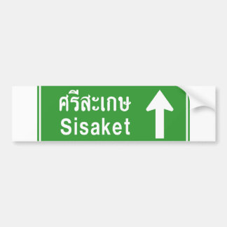 Sisaket Ahead ⚠ Thai Highway Traffic Sign ⚠ Bumper Sticker