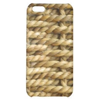 Sisal basket weave pattern case for iPhone 5C