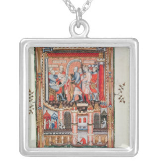 Sisinnius giving orders silver plated necklace