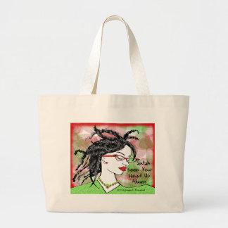 Sistah keep your head up always large tote bag