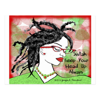 Sistah keep your head up always post cards