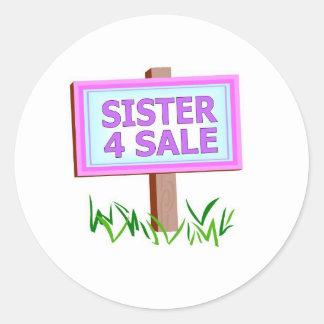 sister 4 sale round sticker