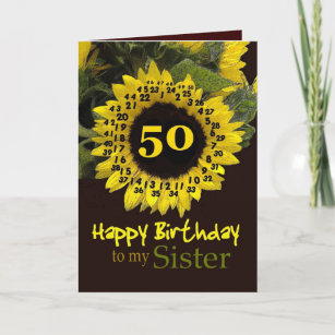 Sisters 50th Birthday Cards