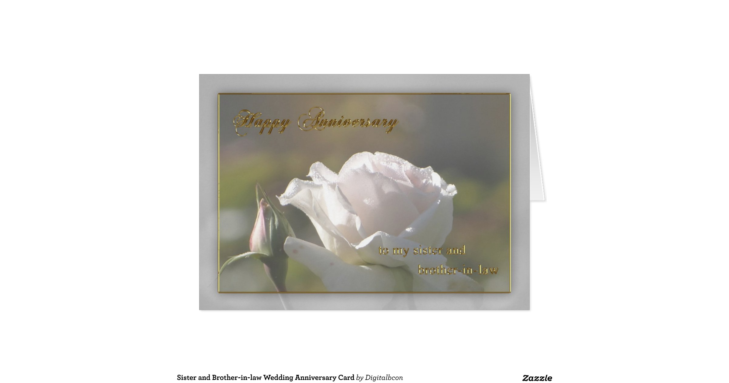 Wedding Gifts For Sister And Brother In Law: Sister And Brother-in-law Wedding Anniversary Card