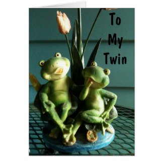 SISTER AND BROTHER TWIN BIRTHDAY CARD