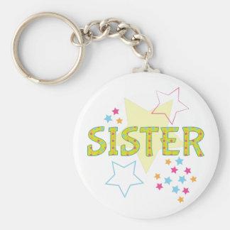 Sister Basic Round Button Key Ring