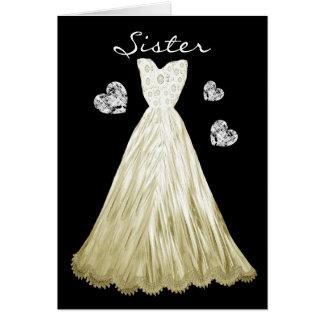 SISTER Be My  Bridesmaid PALE ECRU Dress A01 Card