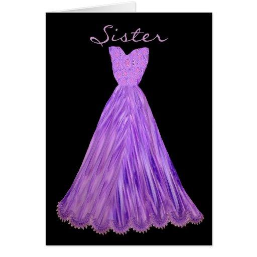 SISTER Be My  Bridesmaid PURPLE GRAPE Dress Card