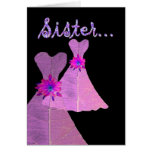 SISTER Be My Matron of Honour - Customisable Greeting Cards