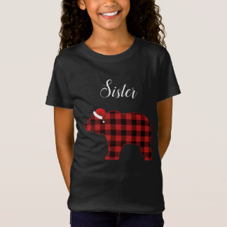 Sister Bear Buffalo Family Chrismtas Pajama T-Shirt
