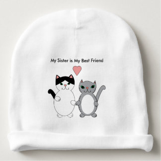 Sister Best Friend Cats Custom Baby Beanie