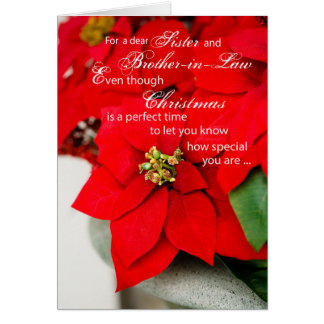 Sister & Brother-in-Law Christmas Poinsettia Card