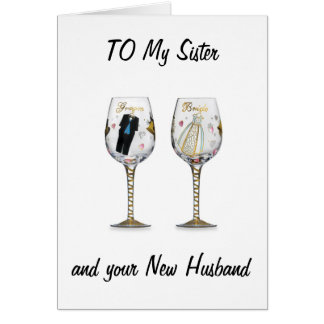 SISTER-CELEBRATE YOUR LOVE WEDDING WISHES GREETING CARD