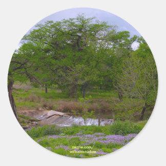 Sister Creek in Spring Round Sticker