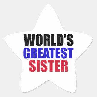 sister design star sticker