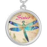 Sister DragonFly Vintage Necklace