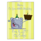 Sister Eat More Cake 66th Birthday Card