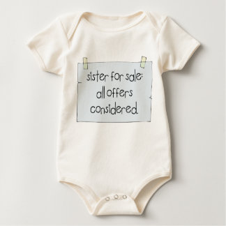 Sister for Sale Baby Bodysuit